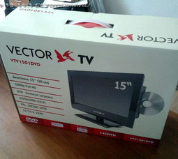 Автомобильный цифровой ЖК телевизор VTV-1502DVD/DVB T-2 - фото 1