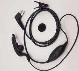 Гарнитура 5 серии с заушиной для Motorolla CP-DP (Усиленый силикон) - фото 2