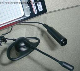 фото TA-5120 микрофон на штанге ( Vertex Standard ) заушным креплением и выносной кнопкой РТТ.