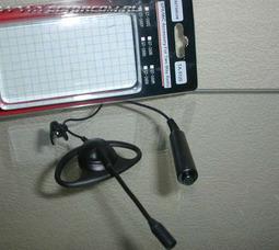 TA-5120 (KENWOOD TK) микрофон на штанге заушным креплением и выносной кнопкой РТТ - фото 3