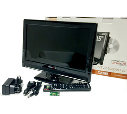 """автомобильный телевизор VTV-1502 V.2 15"""" цифровой DVB T2 и DVD плеером - фото 2"""