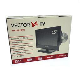 """Автомобильный телевизор  VTV-1501 DVD 15"""", 12/24/220В аналоговое ТВ - фото 10"""