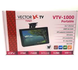 "фото  автомобильный телевизор VTV-1000, 10"" Аналог+Цифра ( DVD-Т/DVB T-2)"