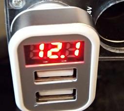 Разъём прикуривателя 2 USB 2.1А квадратный с индикатором (box)