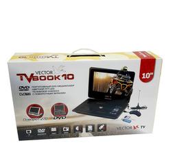 """Портативный медиаплеер Vector  ТВ DVD  Book 10"""" с поворотным экраном 270°  DVD+ цифровое TV  - фото 14"""