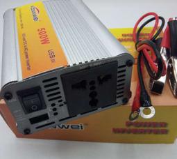 KONNWEI 500 Преобразователь Вх.24V-Вых.220V 500 Вт +5в USB - фото 2