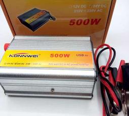 KONNWEI 500 Преобразователь Вх.24V-Вых.220V 500 Вт +5в USB - фото 5